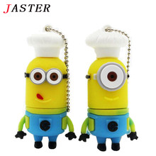 FGHGF chef Minions usb flash drive despicable me 2 cartoon pendrive 32 gb 16gb 8gb 4gb memory stick cute usb stick gifts