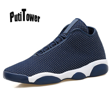 Solid Plus Size Mens Basketball Shoes Professional Breathable Trainers Sneakers Top Brand Zapatillas Hombre Chaussure Homme 1661(China)