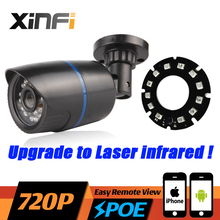 XINFI HD 720P PoE IP Camera 1.0MP Night Vision Outdoor Waterproof Network Camera ONVIF P2P Upgraded Laser IR with USB LED Gift(China)