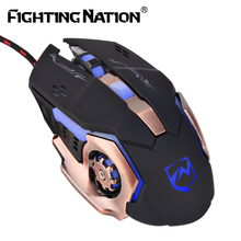 2017 New Mechanical Gaming Illuminate Mouse USB Wired 3200 DPI lighting Macro Backlight Backlit Computer Mice for Pro Gamer(China)
