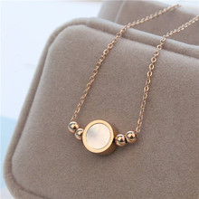 Famous Brand New Stainless Steel Jewelry Never Fade Choker Necklace Shell Round Pendant Necklace For Gift