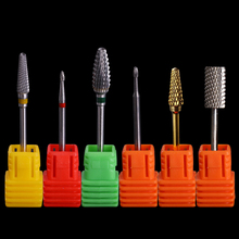 Tungsten Carbide Nail Drill Bit for Electric Grinding Cutter Cuticle Remover Cuspidal File Accessories Manicure Nail Art Tool(China)