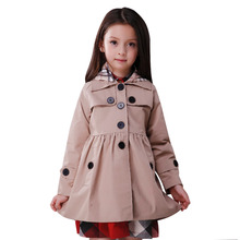 Buy Spring Autumn Girls Trench Coats Fashion Kids Windbreaker Girl Jacket Teenager 3-10 Years Outerwear Children Parka for $12.30 in AliExpress store