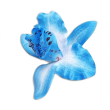 10pcs Artificial Silk Orchid Dendrobium Flower Heads Sew on Wedding Dresses  Beach Party Decoration