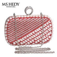 luxury handbags women bags designer beads rhinestones evening purse finger ring diamonds hot hand bag party and wedding wallet(China)