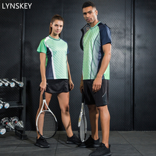 LYNSKEY Badminton Tennis Clothes Women/Men Table Tennis Shirt+Shorts Breathable Quick Dry Sport Set(China)