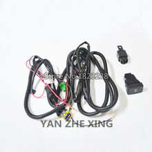Universal Car Kit Wire Harenss For H11 Fog light HID Relay Harness Wiring Switch Kit motorcycle auto