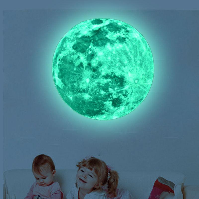 HTB1T6SlSpXXXXaPXVXXq6xXFXXXb - Super Luminous moon wallpaper luminous wall stickers luminous waterproof stickers children bedroom bedroom decoration mural