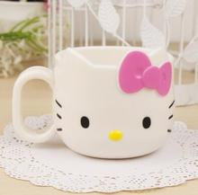 Kawaii Hello Kitty Water Cup Cartoon Mug Kids Novelty Coffee Cups Milk Tea Mugs