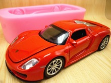 3D super sports car turn sugar cake mold silicone mold chocolate mold soap candle tool