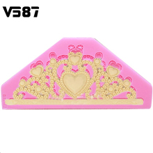 Classic DIY Crown Silicone Cake Mould Tiara Chocolate Soap Fondant Cake Cooking Tools Cake Decorating Tools
