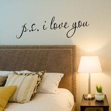 1 PCS Hot Selling 60*17cm PVC PS I Love You DIY Wall Sticker Home Decor Poster for Kids Rooms Decals Wall Decoration