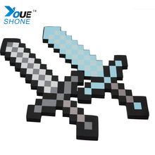 Children Toys EVA Safety Toy Mosaic Military Model Diamond Sword My Minecraft Hot Blast Mosaic My World Baby Toys(China)