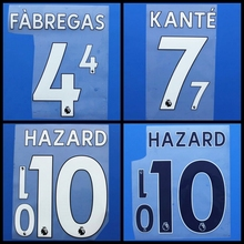 New FABREGAS KANTE HAZARD DIEGO COSTA WILLIAN DAVID LUIZ PEDRO RUDIGER Morata football number font print,Soccer patches badges