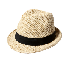 Men Summer Panama Sun Hats 2017 Brand New Fedora Straw Caps Handmade Crochet Solid Color Beach Hat Chapeu Masculino(China)