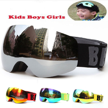 Professional Brand Boys Girls Snowboard goggles Kids Ski Goggles Eyewear Double UV400 anti-fog skiing mask glasses 4-15 Years(China)