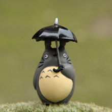 Fast Shipping 1pcs Miyazaki My Neighbor Totoro Umbrella Hand To Do Toys with Action Figure Garden Decorations Toys