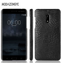 "Nokia 6 Case Nokia 6 Case 2017 5.5 "" Luxury PU Leather Hard Plastic Back Cover Phone Case coque Android 7 phone fundas Nokia6(China)"