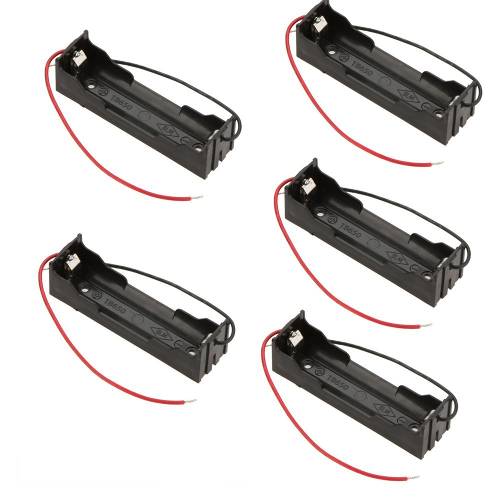 5 Pcs DIY battery storage box case holder for 3.7V 18650 Lithium batteries