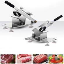 Commercial Household Manual Meat Slicer Lamb Beef Meatloaf Frozen Meat Cutting Machine Vegetable Mutton Rolls Hand Mincer Cutter(China)