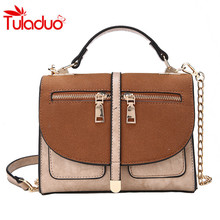 2017 Autumn new personalized zipper decoration France female package Matte skin women messenger bags ladies handbags Sac A Main(China)
