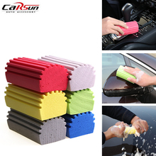 6Pcs/Lot Random Color Multi-Functional Strong Absorbent PVA Car Wash Sponge Auto Wax Detailing Tool Car Cleaning 10.5x5.5x4.3cm