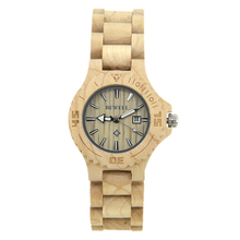 BEWELL Luxury Brand Wood Women Watches Fashion Calendar Display Ladies Watches Montre Femme Relogio with Box 020A