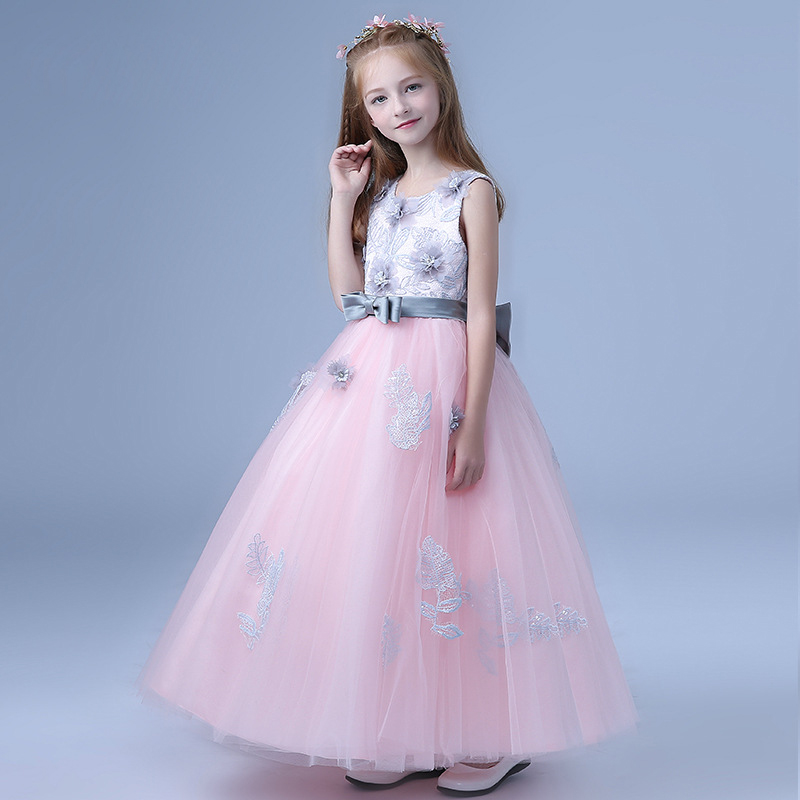 2018-New-Children-s-dress-princess-dresses-for-girls-teenagers-wedding-party-piano-clothing-long-flowers (4)