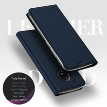 Flip PU Leather Case For Motorola Moto G5 Case Brand DUX DUCIS Magnetic Flip Stand Wallet For Moto G5 Plus Case Card Slot Slim