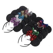 2017 1PC New Fashion Cute Girls Lovely Headbands Bowknot Mouse Ears Hair Hoop Bowknot Headwear Hair band 7 colors