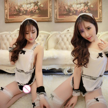 Sexy Maid Apron Lingerie Plus Size 3XL Uniform Sexy Costumes Maid Servant Lolita Costume Baby doll Dress Big Size Women