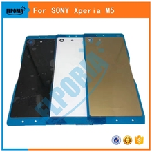 Buy FLPORIA 1PC SONY Xperia M5 E5603 E5633 Back Battery Cover Rear Door Housing Case Replacement SONY M5 Battery Cover for $5.99 in AliExpress store