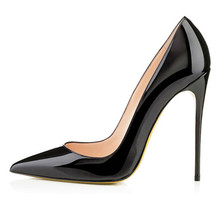 Shoes Woman High Heel Pumps Sexy Black High Heels Pointed Toe Women Shoes Brand Patent Leather Wedding Shoes For Women FS-0019