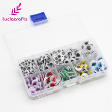 Lucia crafts 1box/lot 5-12mm Self-adhesive Wobbly Googly Eyes DIY for Clothes Scrapbooking Stuffed Toy Doll decor 100100420(China)
