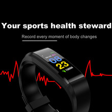 Buy 115 Plus Bluetooth BT Smart Band Fitnees Bracelet Tracker Blood Pressure Heart Rate Monitor Smartband Wristband Android IOS for $11.84 in AliExpress store