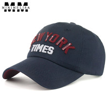 2018 New 100% Cotton High Quality NEW YORK TIMES Embroidered Outdoor Hat Cap Baseball Cap Men Fashion Hat Adjustable 6 Color(China)