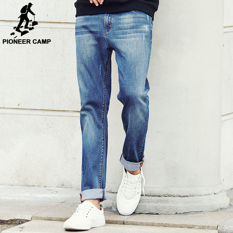Pioneer Camp New Autumn Famous Brand Men Slim Jeans Men Street Cotton Jeans Homme Soft Pencil Pants Long Jeans Trousers 611009Îäåæäà è àêñåññóàðû<br><br>