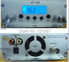 Hot sales! 15 watt pll FM transmitter FMU SER ST-15B with 86MHz-108MHz-100khz(China)