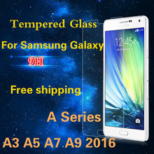 For Samsung Galaxy A3 A5 A7 A9 2016 Tempered Glass 0.3mm 9H 2.5D 2015 A3 A5 A7 Anti Shatter Screen Protector Film Free shipping