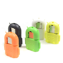 Android Robot Shape Micro Mini USB OTG Adapter Cable For Tablet PC MP3/MP4 smart Phone