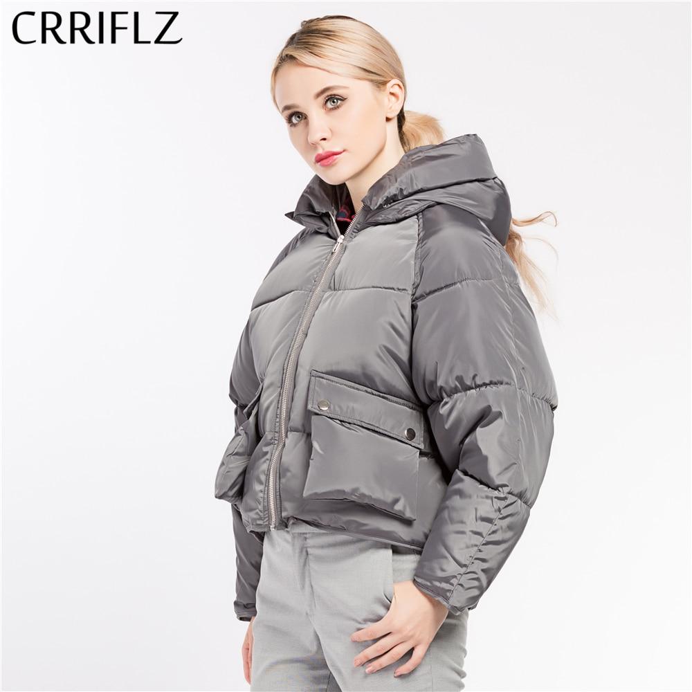 Women Coat Jacket Woman Short Hooded Parka Warm Winter Coat Women High Quality 7 Colors CRRIFLZ 2017 New Winter Collection HotÎäåæäà è àêñåññóàðû<br><br>