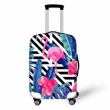 FORUDESIGNS 3D Flamingo Elastic Luggage Protective Covers for 18- 28 Inch Suitcase Thick Dust Rain Cover Travel Bag Case Cover