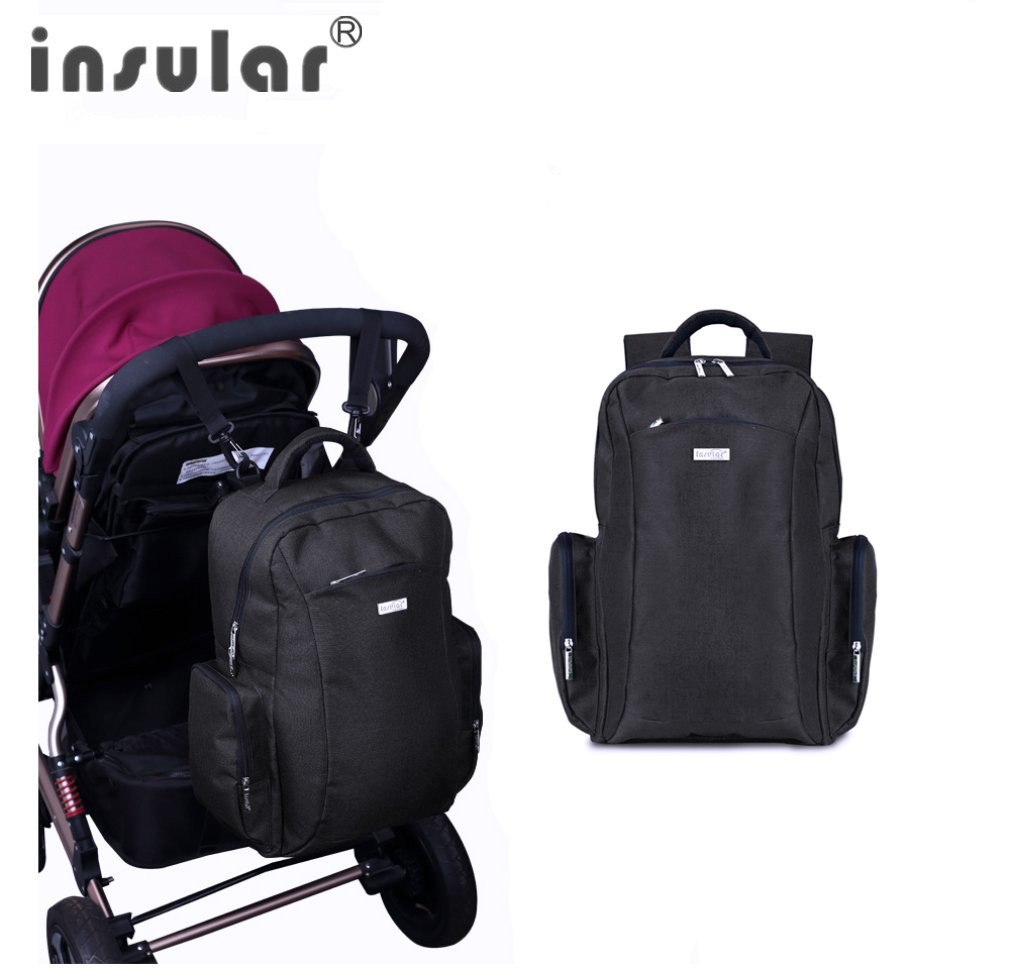 INSULAR Baby Nappy Diaper Bags Multifunction Portable Double Shoulder Nylon Brand Fashion Travel Mummy Bag Baby Nappy Bag New<br>
