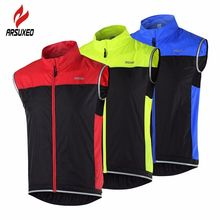 ARSUXEO Cycling Vest MTB Bike Bicycle Breathable Windproof Vest Waterproof Clothing Sleeveless Cycling Jacket for Men