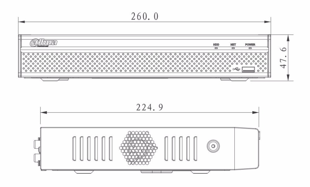 Dahua NVR4108HS-8P-4KS2 4K video recorder H.265 8 POE NVR Up to 8MP Resolution can upgrade Up to 6 TB capacity each HDD