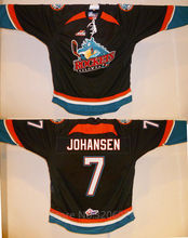 Kelowna Rockets #7 Lucas Johansen Black Hockey Jersey Embroidery Stitched Customize any number and name Jerseys(China)