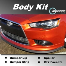 Bumper Lip Lips For Mitsubishi Lancer Evolution EVO / Top Gear Shop Spoiler For Car Tuning / TOPGEAR Recommend Body Kit + Strip(China)