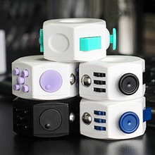 Mini Fidget Cube Colorful Anti Stress Vinyl Desk Toy Keychain Squeeze Puzzle Magic Cube With Box Gift For Children New Arrival