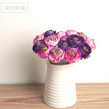 Keythemelife Hot Realistic 9_Branches Autumn Artificial Fake Lotus Flower Arrangement Wedding Hydrangea Decor B5(China)