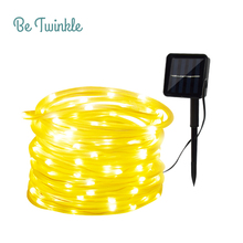 Solar String Lights 10M 100 LED Rope Tube Led String Strip Fairy Light Outdoor Garden Party Decoration Solar Lights(China)